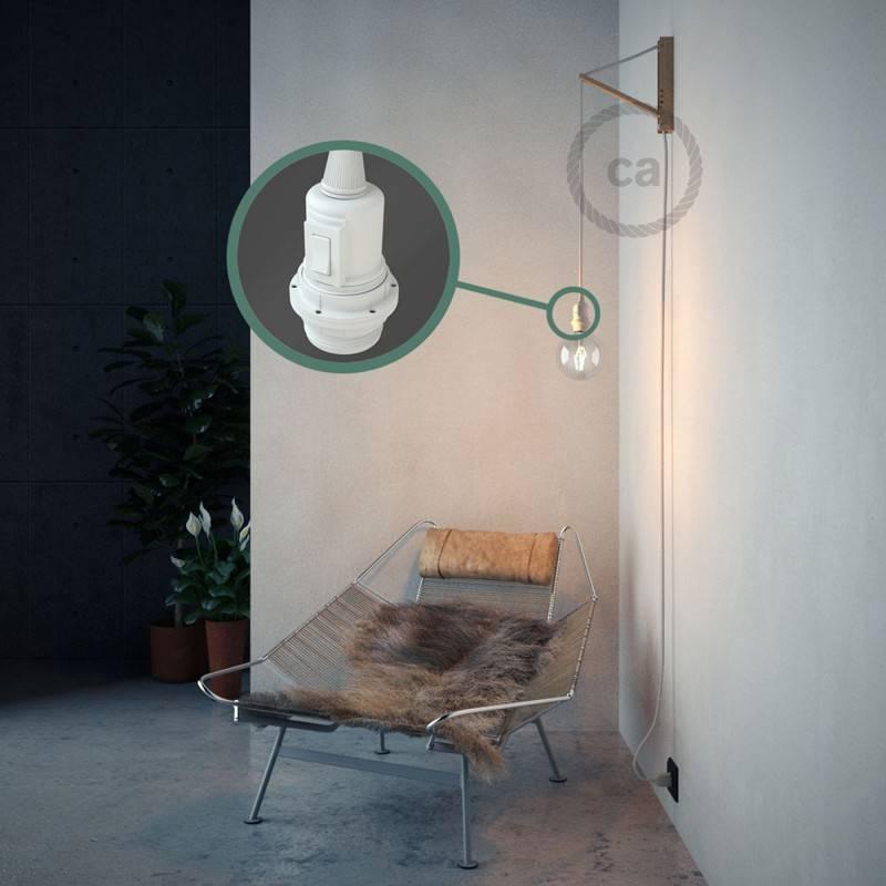 Kreieren sie ihre Snake Lampenschirm Leuchte mit dem RC01 Weiß Baumwolle und erleuchten sie ihre Umgebung.