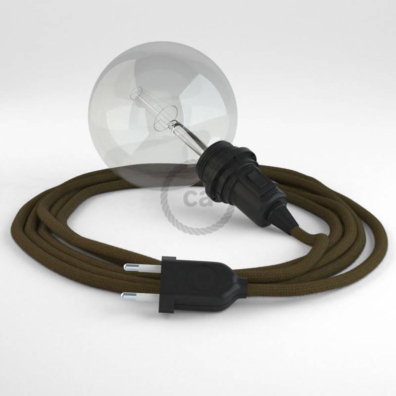 Kreieren sie ihre Snake Lampenschirm Leuchte mit dem RC13 Braun Baumwolle und erleuchten sie ihre Umgebung.