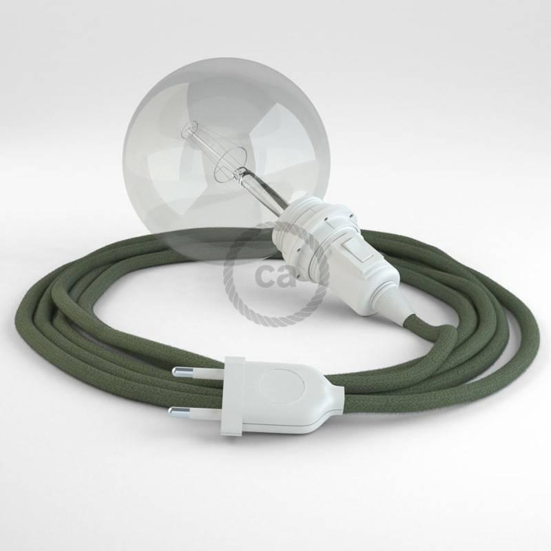 Kreieren sie ihre Snake Lampenschirm Leuchte mit dem RC63 Grau Grün Baumwolle und erleuchten sie ihre Umgebung.