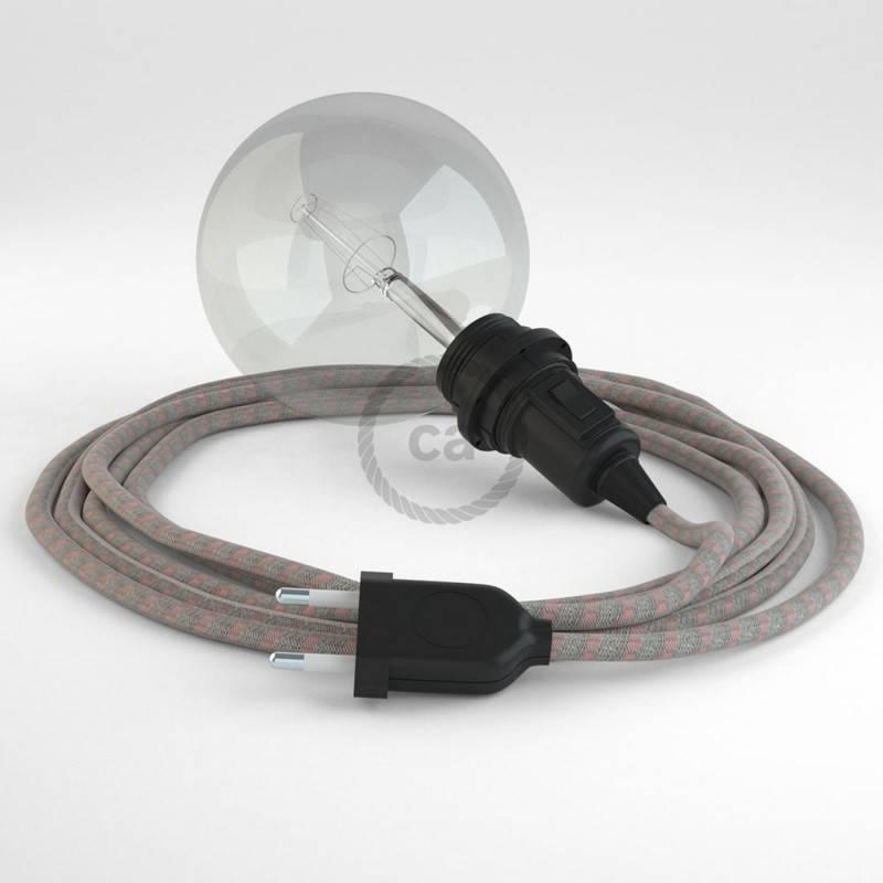 Kreieren sie ihre Snake Lampenschirm Leuchte mit dem RD51 Stripes Ancient Pink und erleuchten sie ihre Umgebung.