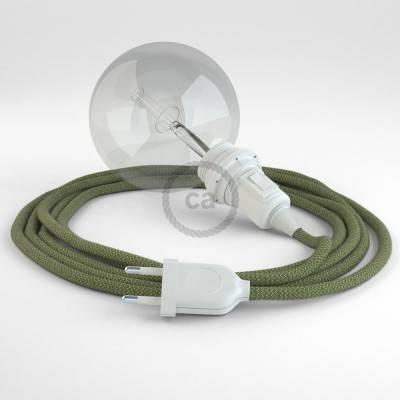Kreieren sie ihre Snake Lampenschirm Leuchte mit dem RD72 Zick Zack Grün Thyme und erleuchten sie ihre Umgebung.