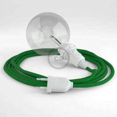 Kreieren sie ihre Snake Lampenschirm Leuchte mit dem RM06 Grün Seideneffekt und erleuchten sie ihre Umgebung.
