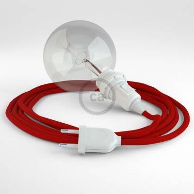 Kreieren sie ihre Snake Lampenschirm Leuchte mit dem RM09 Rot Seideneffekt und erleuchten sie ihre Umgebung.