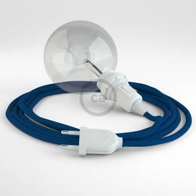 Kreieren sie ihre Snake Lampenschirm Leuchte mit dem RM12 Blau Seideneffekt und erleuchten sie ihre Umgebung.