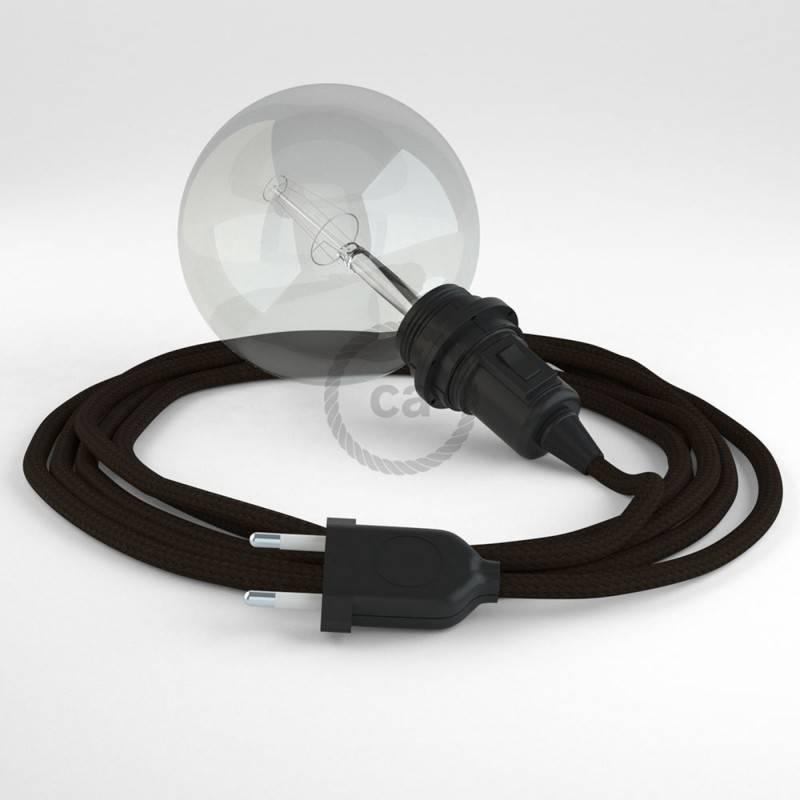 Kreieren sie ihre Snake Lampenschirm Leuchte mit dem RM13 Braun Seideneffekt und erleuchten sie ihre Umgebung.