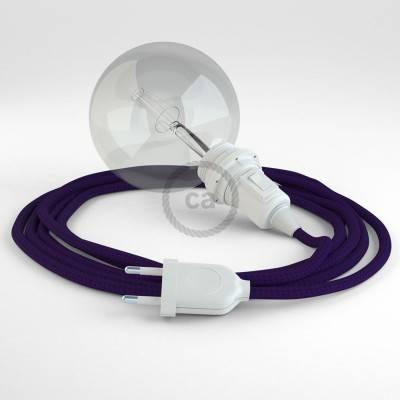 Kreieren sie ihre Snake Lampenschirm Leuchte mit dem RM14 Violet Seideneffekt und erleuchten sie ihre Umgebung.