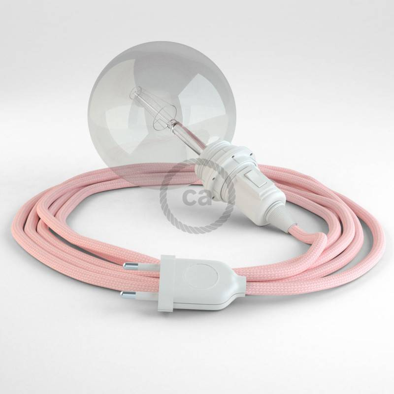 Kreieren sie ihre Snake Lampenschirm Leuchte mit dem RM16 Baby Pink Seideneffekt und erleuchten sie ihre Umgebung.