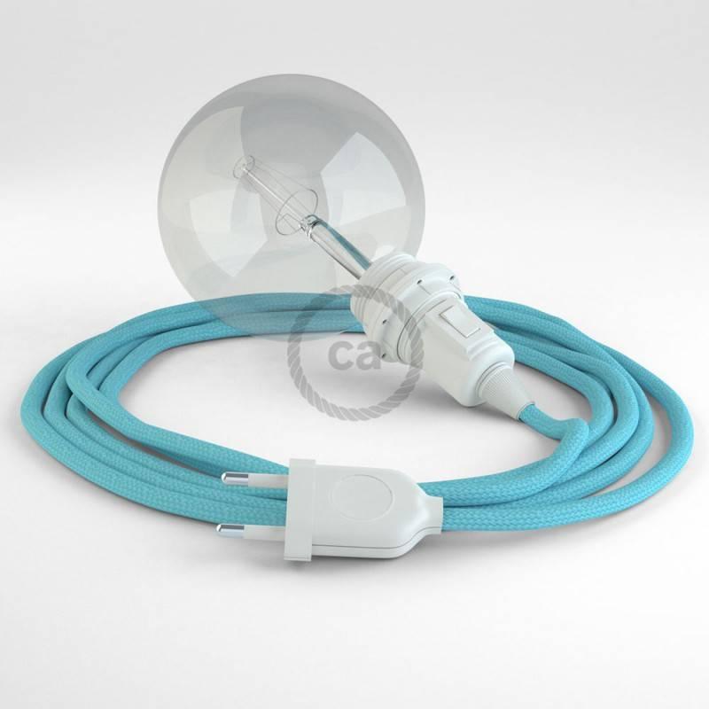 Kreieren sie ihre Snake Lampenschirm Leuchte mit dem RM17 Baby Blau Seideneffekt und erleuchten sie ihre Umgebung.