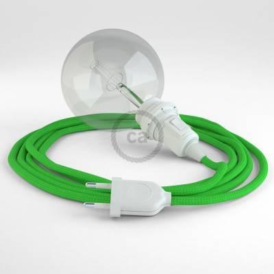 Kreieren sie ihre Snake Lampenschirm Leuchte mit dem RM18 Grün Lime Seideneffekt und erleuchten sie ihre Umgebung.