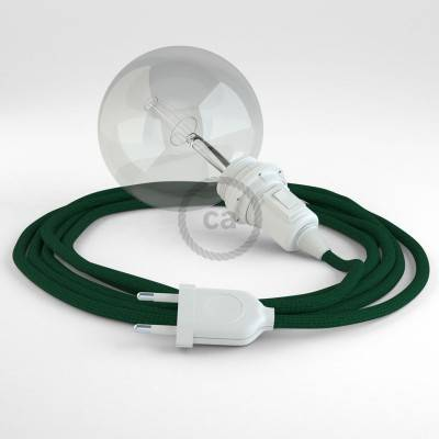 Kreieren sie ihre Snake Lampenschirm Leuchte mit dem RM21 Dunkel Grün Seideneffekt und erleuchten sie ihre Umgebung.