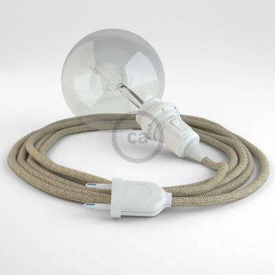Kreieren sie ihre Snake Lampenschirm Leuchte mit dem RN01 Neutral Natürlichem Leinen und erleuchten sie ihre Umgebung.