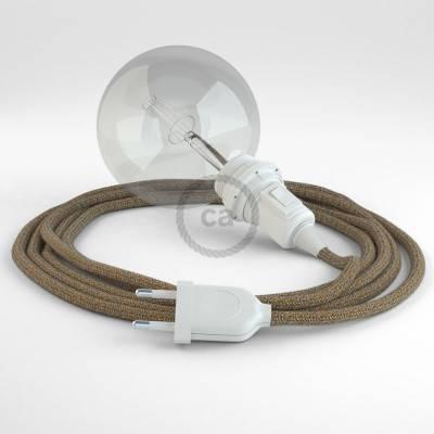 Kreieren sie ihre Snake Lampenschirm Leuchte mit dem RS82 Braun Geglittert Natürlichem Leinen und erleuchten sie ihre Umgebung.