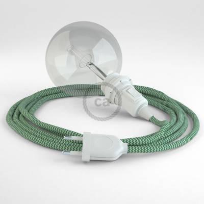 Kreieren sie ihre Snake Lampenschirm Leuchte mit dem RZ06 Zick Zack Grün und erleuchten sie ihre Umgebung.