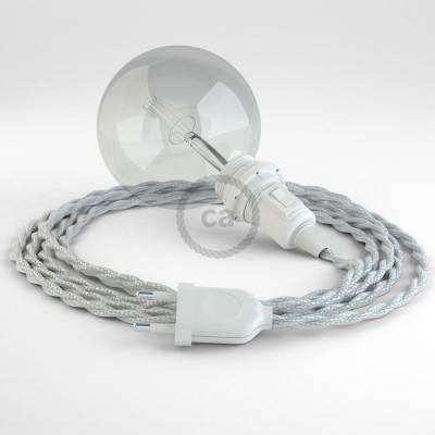Kreieren sie ihre Snake Lampenschirm Leuchte mit dem TM02 Silber Seideneffekt und erleuchten sie ihre Umgebung.