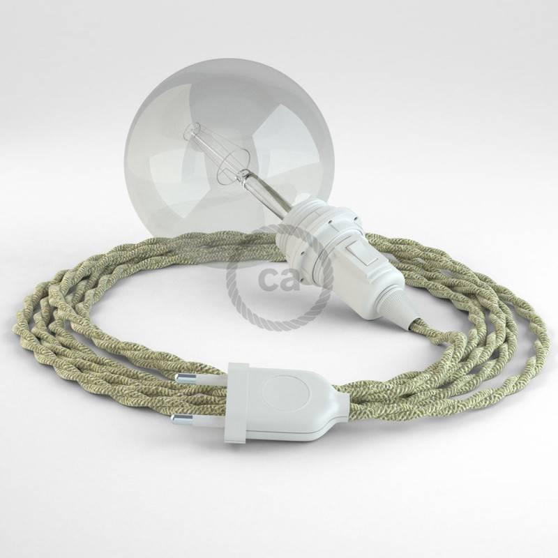 Kreieren sie ihre Snake Lampenschirm Leuchte mit dem TN01 Natürlichem Leinen und erleuchten sie ihre Umgebung.