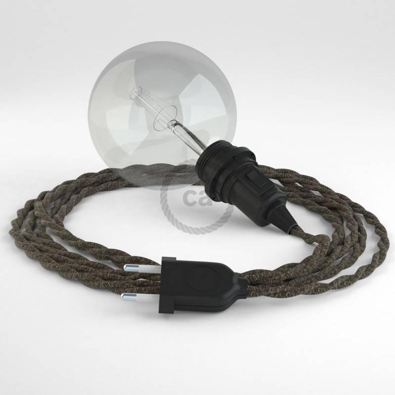Kreieren sie ihre Snake Lampenschirm Leuchte mit dem TN04 Braun Natürlichem Leinen und erleuchten sie ihre Umgebung.