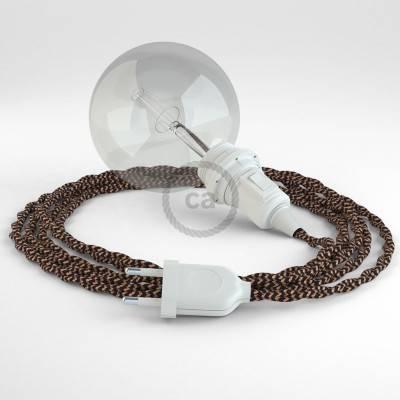 Kreieren sie ihre Snake Lampenschirm Leuchte mit dem TZ22 Schwarz Whiskey Seideneffekt und erleuchten sie ihre Umgebung.