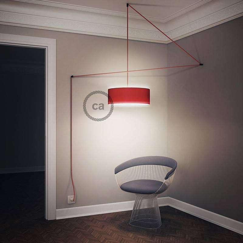 Kreieren sie ihre Snake Lampenschirm Leuchte mit dem RC30 Steingrau Baumwolle und erleuchten sie ihre Umgebung.