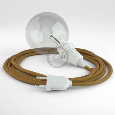 Kreieren sie ihre Snake Lampenschirm Leuchte mit dem RC31 Goldener Honig Baumwolle und erleuchten sie ihre Umgebung.