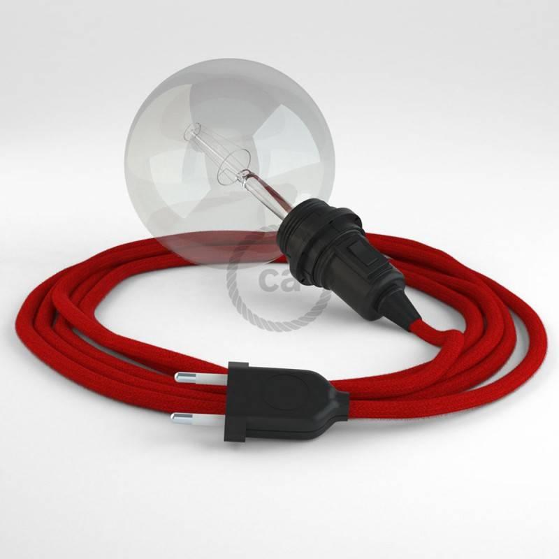 Kreieren sie ihre Snake Lampenschirm Leuchte mit dem RC35 Feuerrot Baumwolle und erleuchten sie ihre Umgebung.