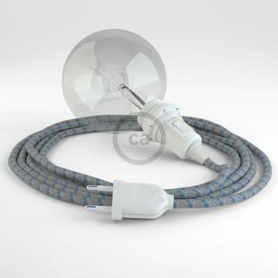Kreieren sie ihre Snake Lampenschirm Leuchte mit dem RD55 Stripes Blau und erleuchten sie ihre Umgebung.