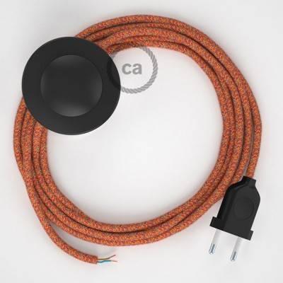 Stehleuchte Anschlussleitung RX07 Indian Summer Baumwolle 3 m. Wählen Sie aus drei Farben bei Schalter und Stecke.