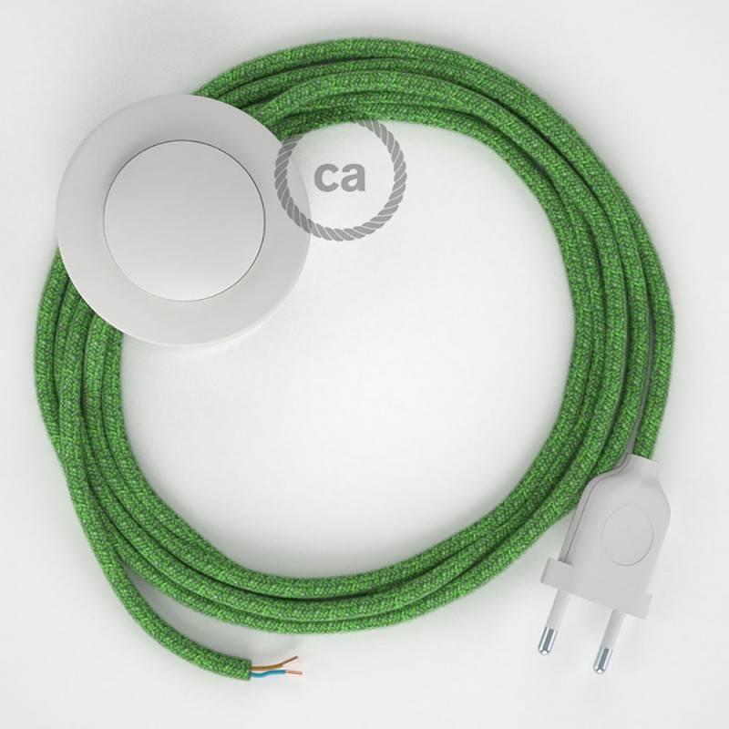 Stehleuchte Anschlussleitung RX08 Bronte Baumwolle 3 m. Wählen Sie aus drei Farben bei Schalter und Stecke.