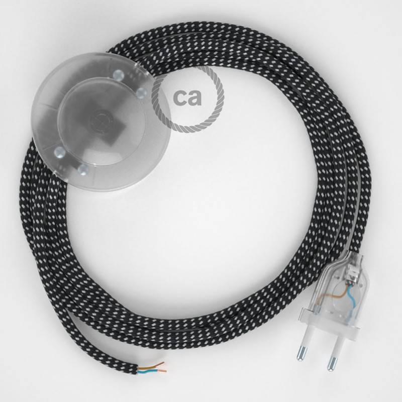 Stehleuchte Anschlussleitung RT41 Sternmuster-Hervorhebung Seideneffekt 3 m. Wählen Sie aus drei Farben bei Schalter und Stecke.