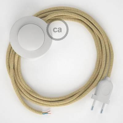 Stehleuchte Anschlussleitung RN06 Braun Jutefaser 3 m. Wählen Sie aus drei Farben bei Schalter und Stecke.