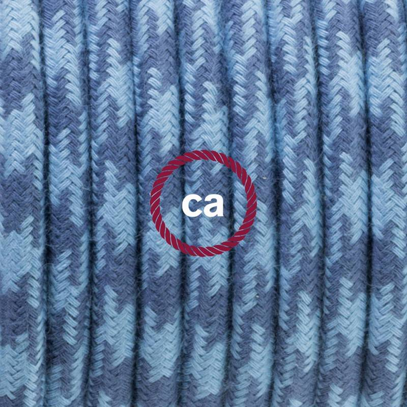 Einzelpendel, Hängelampe Zweifarbig Ocean und Steingrau Baumwolle RP25