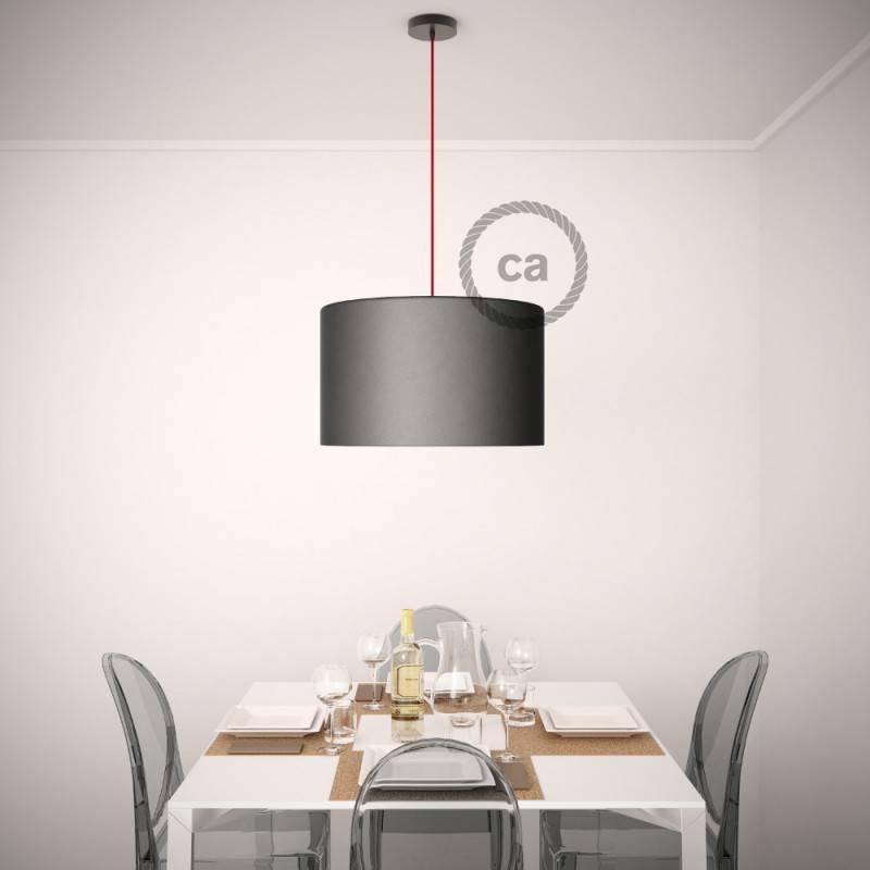 Pendel für Lampenschirm, Hängelampe Zweifarbig Ocean und Steingrau Baumwolle RP25