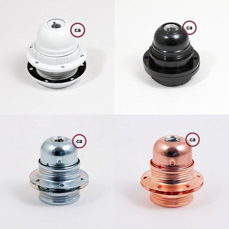 Pendel für Lampenschirm, Hängelampe Zweifarbig Antik-Rosa und Grau Baumwolle RP26