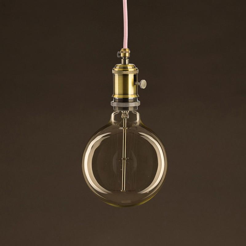 Vintage Glühbirne gold Globo G125 vertikaler Kohlefaden 30W E27 dimmbar 2000K