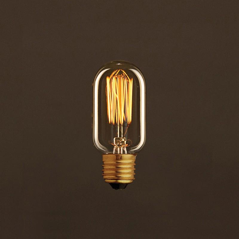 vintage gl hbirne gold oval t45 vertikaler kohlefaden 30w e27 dimmbar 2000k. Black Bedroom Furniture Sets. Home Design Ideas