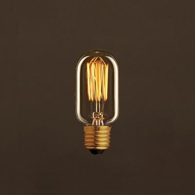 Vintage Glühbirne gold oval T45 vertikaler Kohlefaden 25W E27 dimmbar 2000K