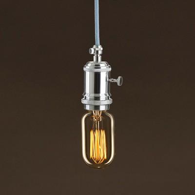 Vintage Glühbirne gold oval T45 vertikaler Kohlefaden 30W E27 dimmbar 2000K