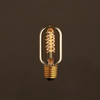 Vintage Glühbirne gold oval T45 Filament doppelte Spirale Kohlefaden 30W E27 dimmbar 2000K