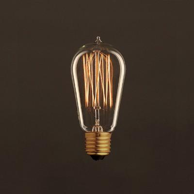 Vintage Glühbirne gold Edison ST58 vertikaler Kohlefaden 30W E27 dimmbar 2000K