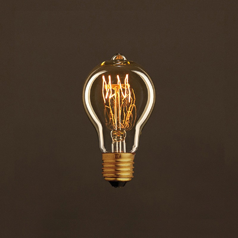 vintage gl hbirne gold tropfen a60 spirale filament kohlefaden 30w e27 dimmbar 2000k. Black Bedroom Furniture Sets. Home Design Ideas