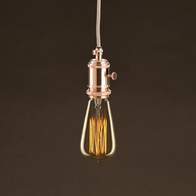 Vintage Glühbirne gold Edison ST64 vertikaler Kohlefaden 30W E27 dimmbar 2000K