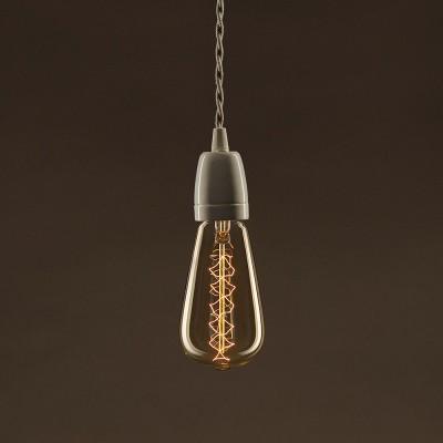 Vintage Glühbirne gold Edison ST64 Filament doppelte Spirale Kohlefaden 30W E27 dimmbar 2000K