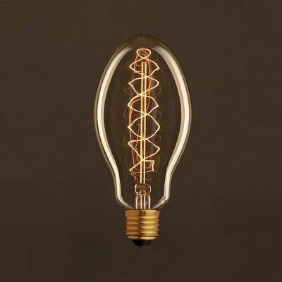 Vintage Glühbirne gold Kerze E75 Filament doppelte Spirale Kohlefaden 25W E27 dimmbar 2000K