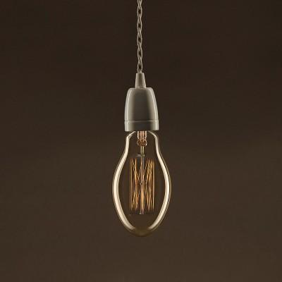Vintage Glühbirne gold Kerze E75 vertikaler Kohlefaden 30W E27 dimmbar 2000K