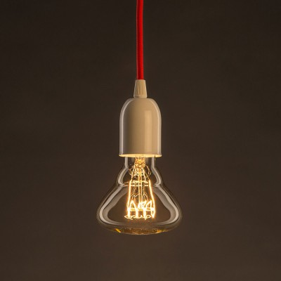 Vintage Glühbirne gold BR95 Filament horizontale Spirale Kohlefaden 25W E27 dimmbar 2000K