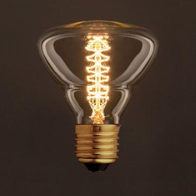 Vintage Glühbirne gold BR95 Filament doppelte Spirale Kohlefaden 30W E27 dimmbar 2000K