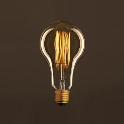Vintage Glühbirne gold Tropfen A95 vertikaler Kohlefaden 30W E27 dimmbar 2000K