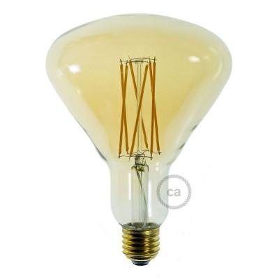 LED Glühbirne gold BR125 vertikaler Glühfaden 4W E27 dimmbar 2000K