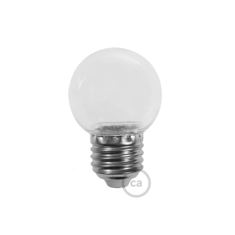 LED-Glühbirne Globo G45 1W E27 2700K - Farbe Transparent