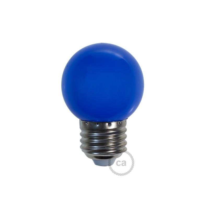 LED-Glühbirne Globo G45 1W E27 2700K - Farbe Blau