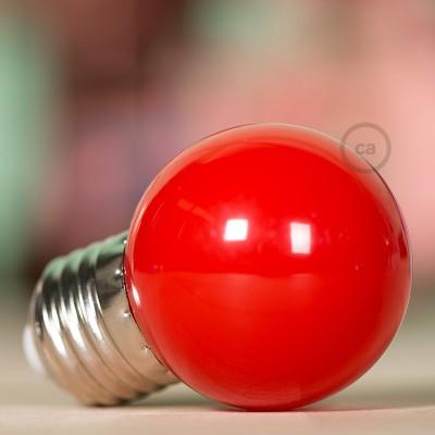 LED-Glühbirne Globo G45 1W E27 2700K - Farbe Rot